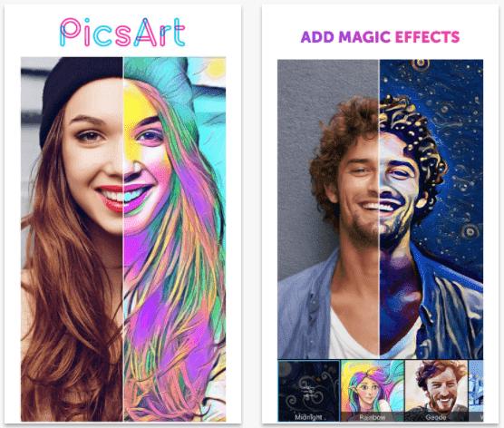 ứng dụng ghép ảnh picsart