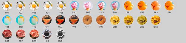 Foodie có khá nhiều các bộ lọc cho bạn lựa chọn
