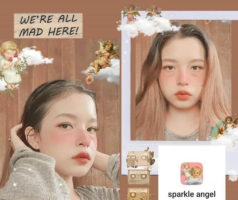 Filter Sparkle angel được nhiều bạn trẻ yêu thích