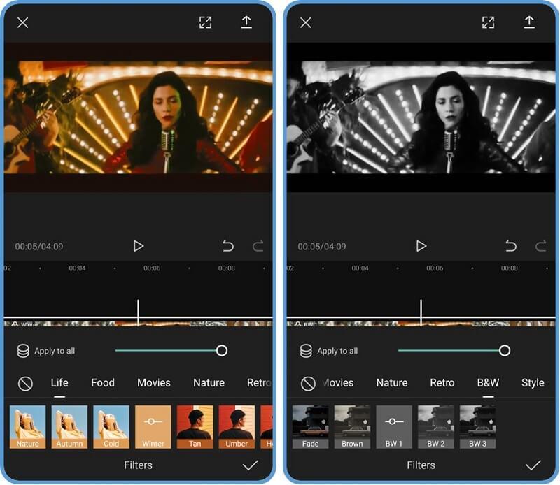 Capcut mang lại nhiều bộ lọc, giúp bạn tạo video nhanh chóng