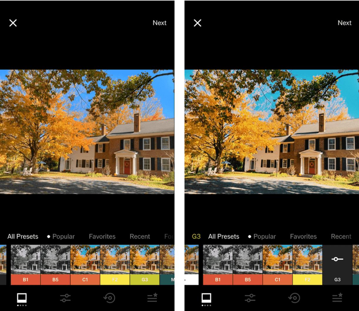 Cách chỉnh sửa hình ảnh trên VSCO