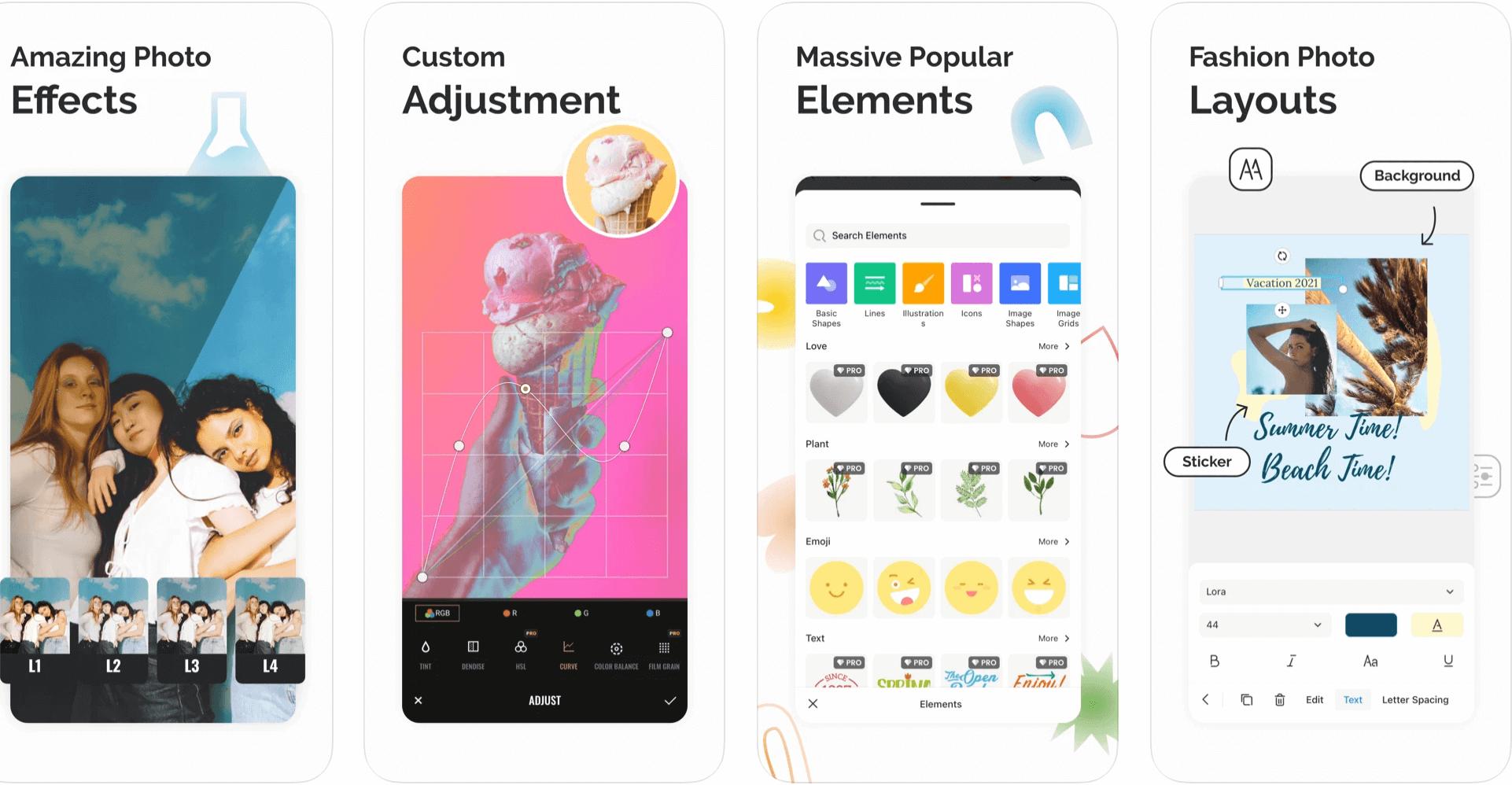 Ứng dụng Fotor trên iPhone