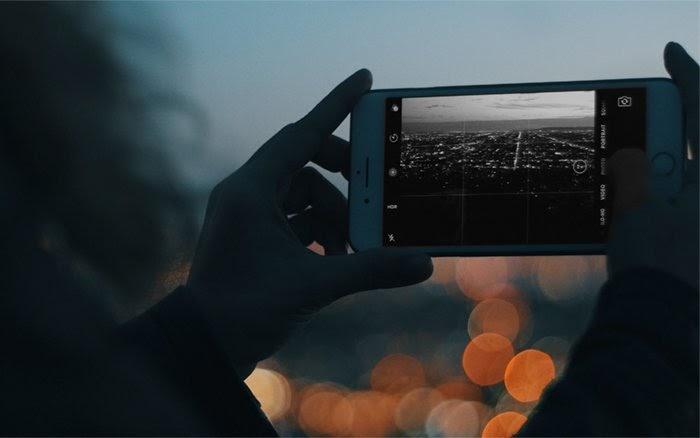Thành phố hình ảnh iphone đen trắng