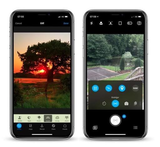 Ứng dụng camera + 2 cho cài đặt thủ công trên iphone