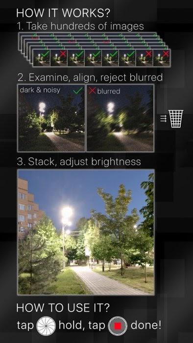 Ứng dụng camera ban đêm ổn định cho iphone