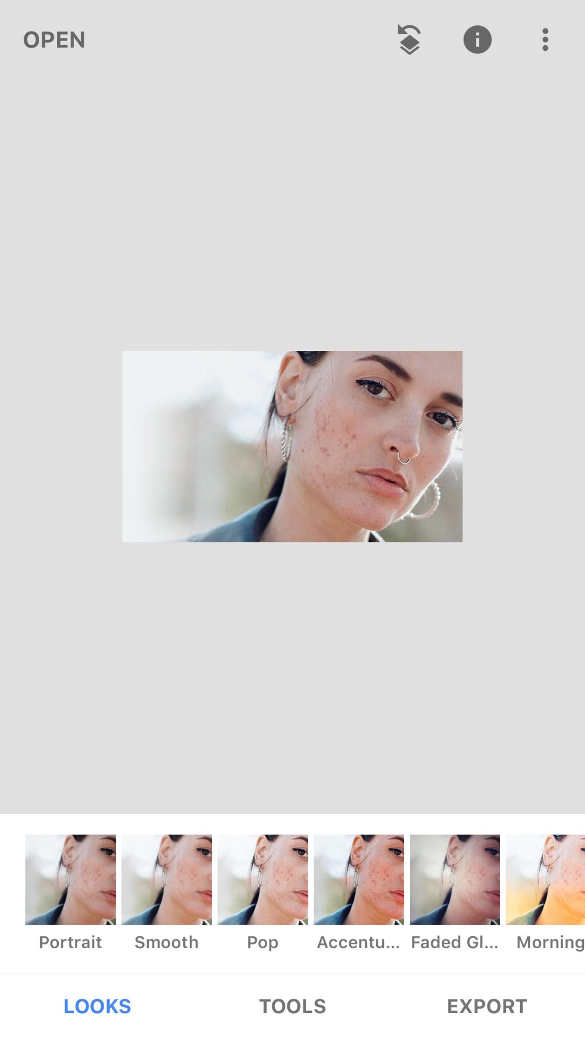 Tùy chọn các bộ lọc ảnh trong Snapseed