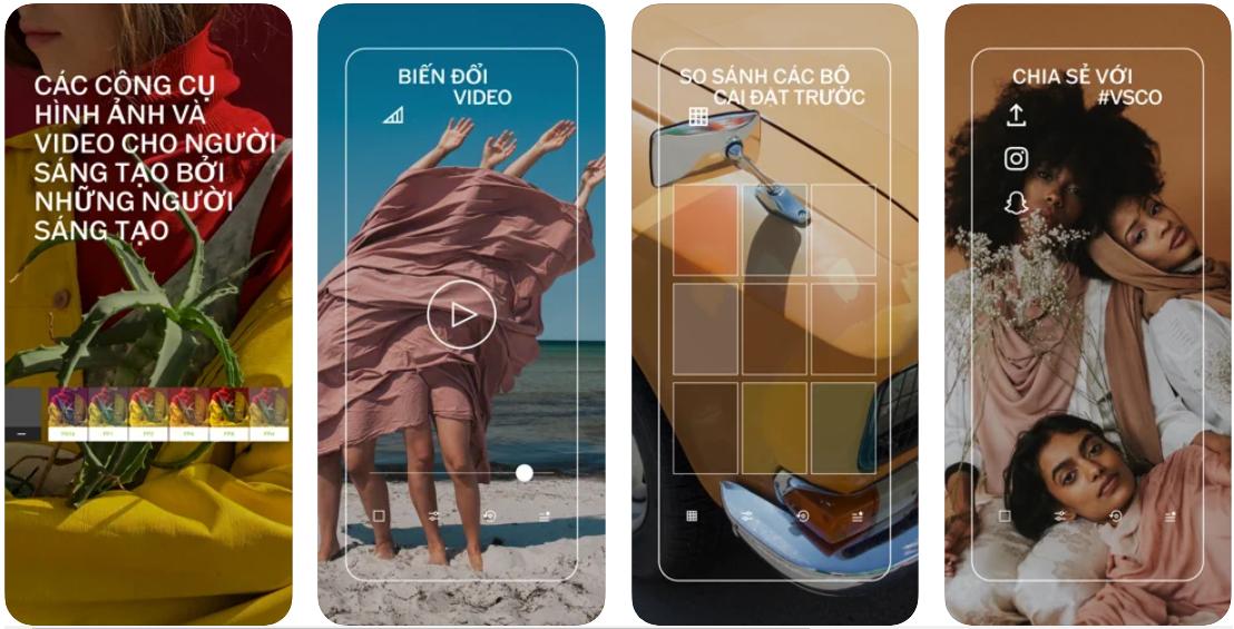Chỉnh ảnh màu vintage với ứng dụng VSCO