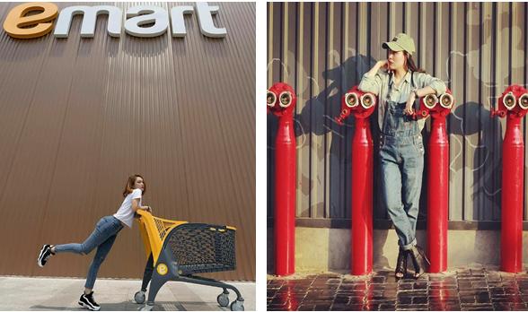 Những background xịn tại Emart có thể chụp ảnh street style