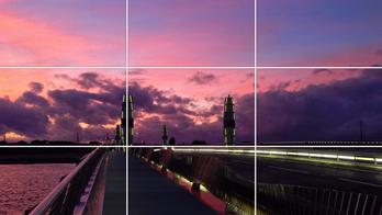 Bật khung lưới khi chụp ảnh giúp bạn canh gốc chuẩn hơn