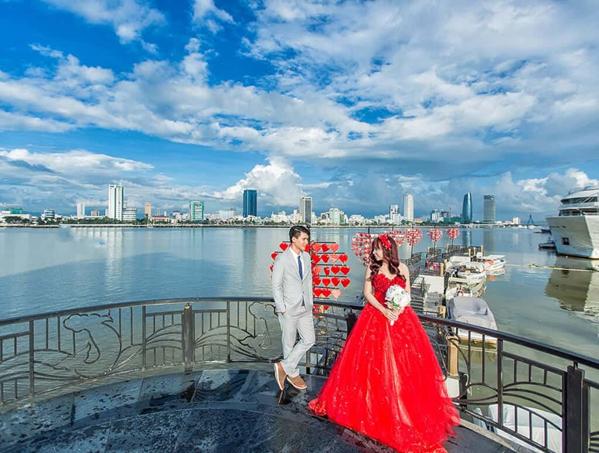 Một ảnh cưới được chụp tại Đà Nẵng