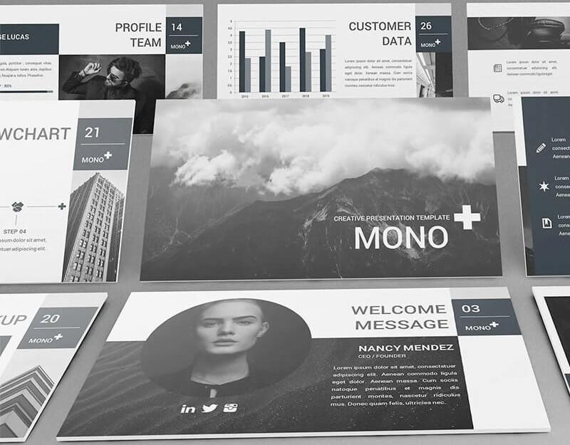Mono Lookbook cực chất cho ảnh trắng đen