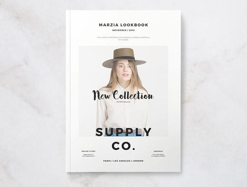 Concept chụp ảnh lookbook đơn giản, tinh tế của Marzia Lookbook