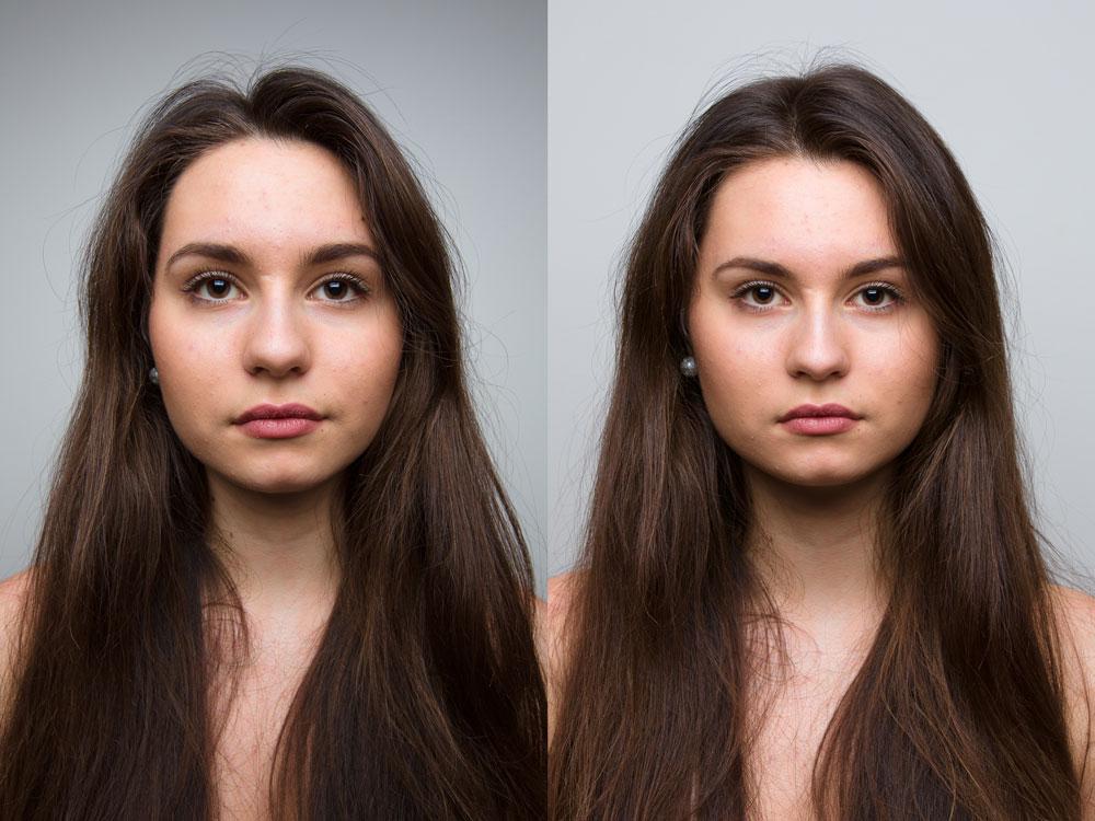 Sự khác nhau khi thay đổi ống đủ xa khi chụp ảnh chân dung cận